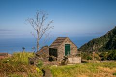 Cute, little building in Chao da Ribeira, Madeira Stock Photos