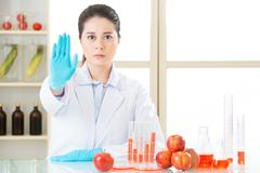 don't ever try it, the gmo food is not the cure - stock photo