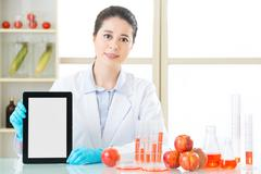 You will find genetic modification food information on internet Stock Photos
