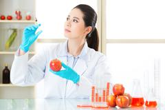 Human try to make better genetic modification food Stock Photos