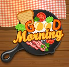 English breakfast. Vector. Stock Illustration