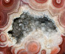 Abstract mineral texture with transparent quartz crystals Stock Photos