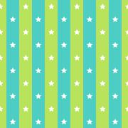 retro seamless polka blue green star seamless background. Vector illustration - stock illustration