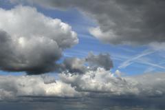 Sky and clouds background, horizontal crop Stock Photos