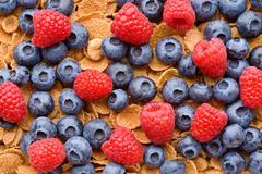 Multigrain muesli with berries - stock photo