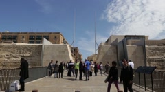 City Gate Entrance to Valletta, Malta. Stock Footage