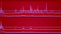 4k stock market trend analysis statistics data heartbeat pulse ECG grid lines. Stock Footage