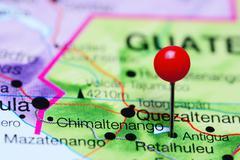 Chimaltenango pinned on a map of Guatemala Stock Photos