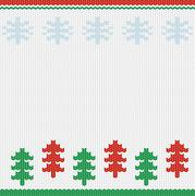 Nordic merry christmas handcraft vector background card Stock Illustration