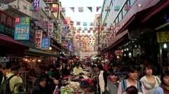 Namdaemun Market in Seoul, Korea Stock Footage