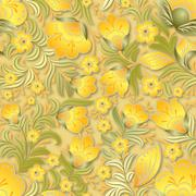 Abstract summer seamless floral ornament Stock Illustration