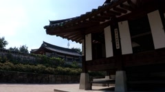 Korea Traditional House Village Stock Footage