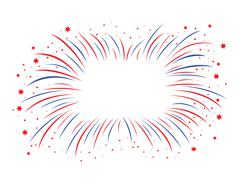 Red and blue firework Stock Illustration