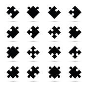 A black jigsaw pieces Stock Illustration