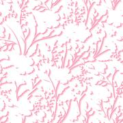 Vector Floral 3d Seamless Pattern Background. For wedding and Invitation cards Stock Illustration