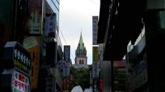 Myungdong Street in Seoul, Korea Stock Footage