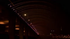 A Night View of Seoul from Han River, Korea Stock Footage