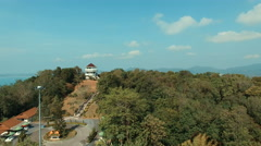 Khao khad view point in phuket thailand Stock Footage