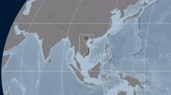 Vietnam - 3D tube zoom (Kavrayskiy VII projection). Bumps Stock Footage