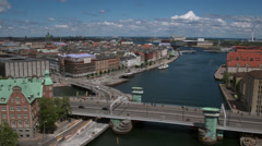Channels and Port of Copenhagen seen from a drone - Drone Video Arkistovideo