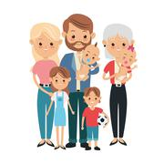 Parents, kids and grandmother icon. Family design. Vector graphi Stock Illustration