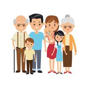 Grandparents, parents and kids icon. Family design. Vector graph - stock illustration