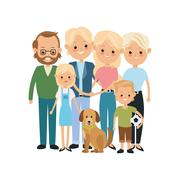 Grandparents, parents and kids icon. Family design. Vector graph Stock Illustration