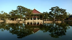 Korea Traditional Gyeongbokgung Palace in Seoul Stock Footage