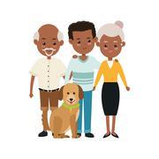 Grandparents and son icon. Family design. Vector graphic Stock Illustration