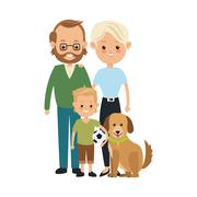Parents and son icon. Family design. Vector graphic Stock Illustration