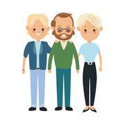 Grandfather and parents icon. Family design. Vector graphic Stock Illustration