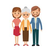 Grandmother and parents icon. Family design. Vector graphic Stock Illustration
