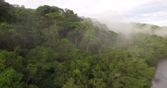 Aerial View Of Rain Forest In Peru, South America Stock Footage
