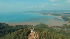 Aerial view khao khad view point phuket thailand Stock Footage
