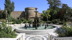 Fountain in the park named after Vagif. Baku. The Republic of Azerbaijan Stock Footage