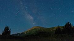 Night Sky Time Lapse Milky Way Stock Footage
