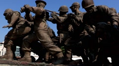 War Memorial of Korea in Seoul Stock Footage