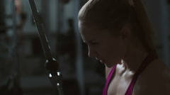 Intensive Workout Stock Footage