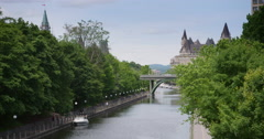 Ottawa Canal In The Summer Stock Footage