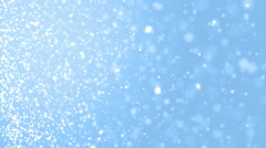 Elegant blue abstract with snowflakes. Stock Footage