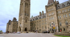 Centre Block and Peace Tower of Parliament from the Side Arkistovideo