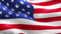 American USA waving flag, united states of america Stock Footage