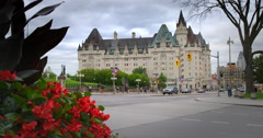 Parliament Building With Flowers Stock Footage