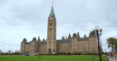 Ottawa's Centre Block on a Summer's Day Stock Footage