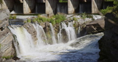 Shot Of Hog's Back Falls On A Beautiful Summer Day - stock footage