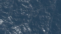 Wavy water. Animation blue ocean. Stock Footage