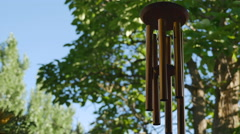 Wind chimes - 4K with audio Stock Footage