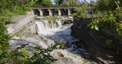Hog's Back Falls in Summer Stock Footage
