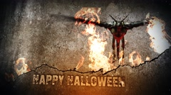 Happy Halloween Fire Dragon 4K Stock Footage
