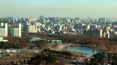 Sky park in Seoul, Korea Stock Footage